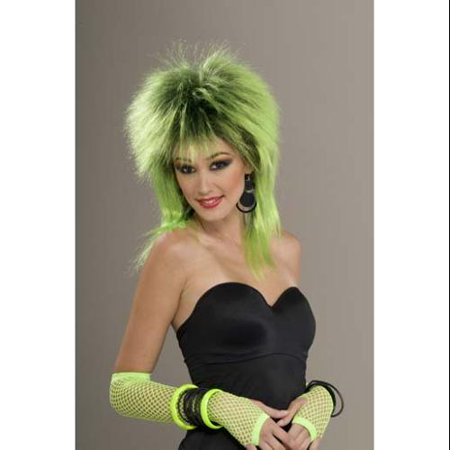 80's Punk Rock Lime Shock Costume - 80s Wigs