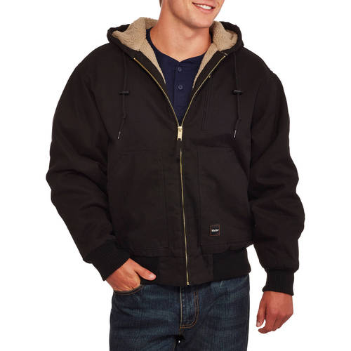 Big Men's Washed Duck Sherpa Lined Hooded Jacket by