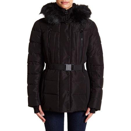 MICHAEL Michael Kors Mixed-Media Hooded Puffer Coat (S)