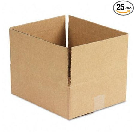 166535 Corrugated Kraft Fixed-Depth Shipping Carton, 10w x 12l x 4h, Brown, 25/Bundle, Catalog Publishing Type - Mailing Boxes/Tubes-Shipping.., By Universal (Catalogs By Mail)