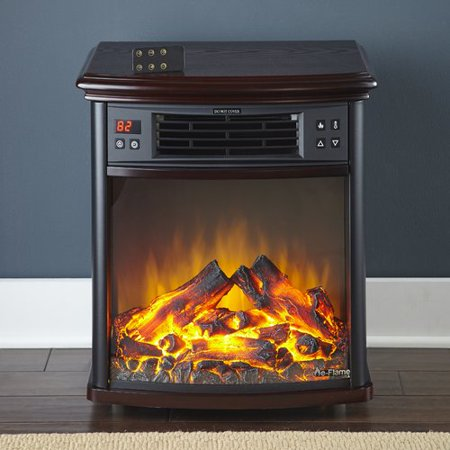 Portable Electric Fireplace Night Stand w/ Infrared Heating and Remote Control by e-Flame USA ()
