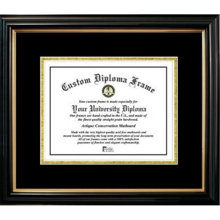 Petite Black Gold Trim Black Gold Certificate Frame