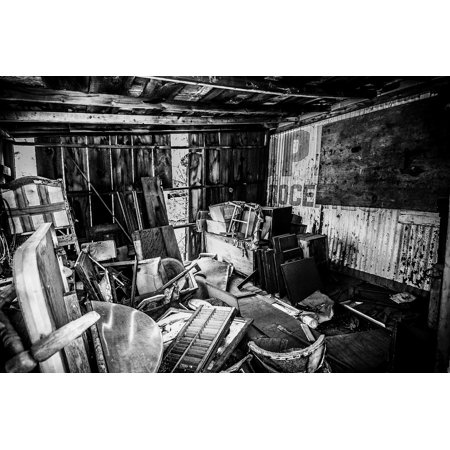 LAMINATED POSTER Clutter Wood Dilapidated Black And White Structure Poster Print 24 x 36