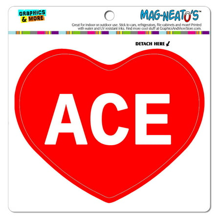 I Love Heart - Male Names - Ace - MAG-NEATO'S(TM) Vinyl (Aceo Magnet)