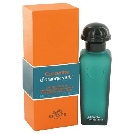 Hermes EAU D'ORANGE VERTE Eau De Toilette Spray Concentre Refillable (Unisex) for Women 1.6