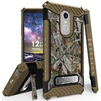 LG Q Stylus/Stylo 4 Case, Autumn Camouflage Tree Leaf Real Woods Rugged Hunting Cover [with Metal Kickstand + Wrist Strap Lanyard] for LG Q Stylus | LG Stylo 4 | LG Stylus 4