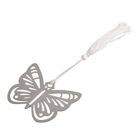 Household Metal Tassel Decor Butterfly Shaped Page Fashion Holder Bookmark ()