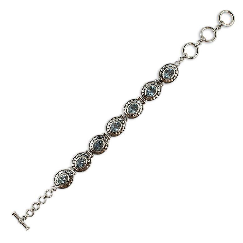 Blue Topaz Sterling Silver Bracelet by BestPysanky