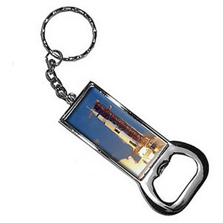 Apollo 11 Launch Usa Space Program Keychain Key Chain Ring Bottle Bottlecap Opener