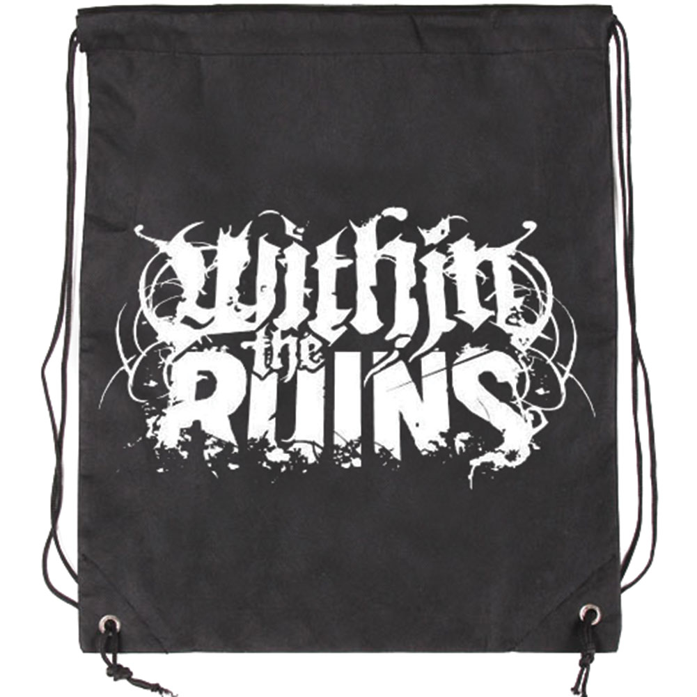 Within The Ruins Logo Drawstring Backpack Black