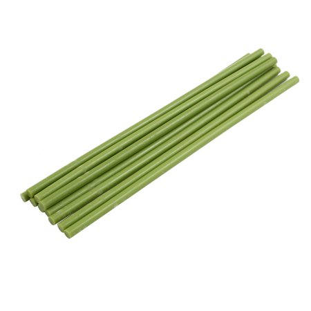 10 Pcs Light Green 7mm Dia Soldering Iron Hot Melt Glue Stick 253mm Length