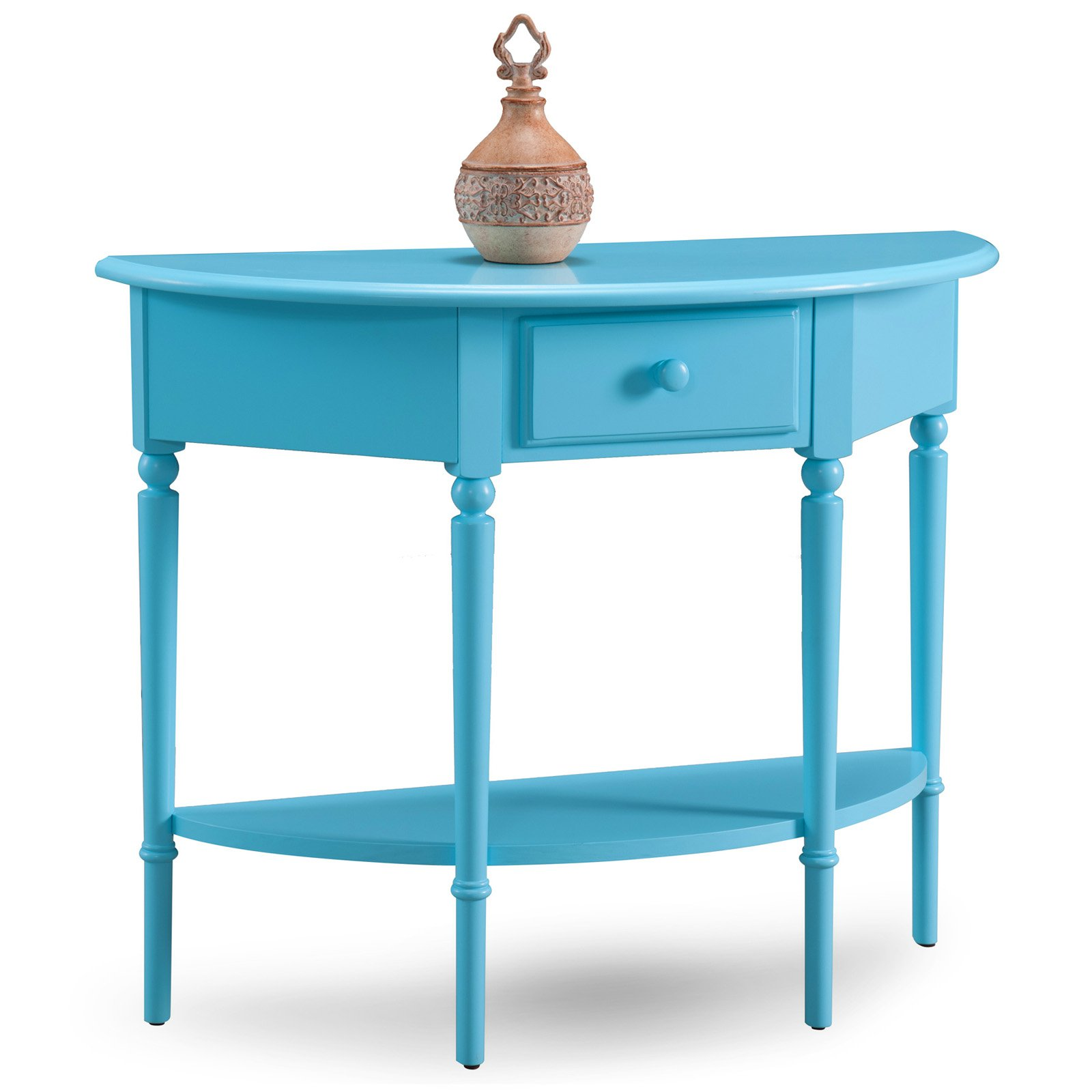Leick Furniture Demilune Sofa Table with Shelf by Leick Furniture