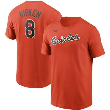 Cal Ripken Jr. Baltimore Orioles Nike Cooperstown Collection Name & Number T-Shirt - Orange