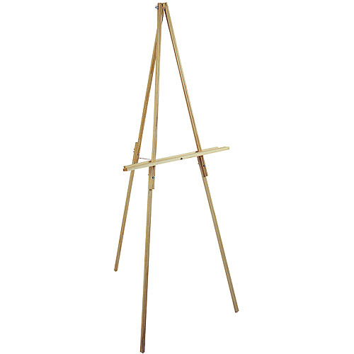 "Natural Wood Floor Easel, 65"" High"
