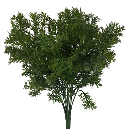 3PCS Artificial Plastic Flower Leaves Branch Lifelike Parsley Floral Home Decoration Photo Props