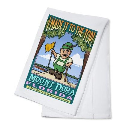 Mount Dora, Florida - Climbing Mount Dora - Lantern Press Poster (100% Cotton Kitchen Towel)