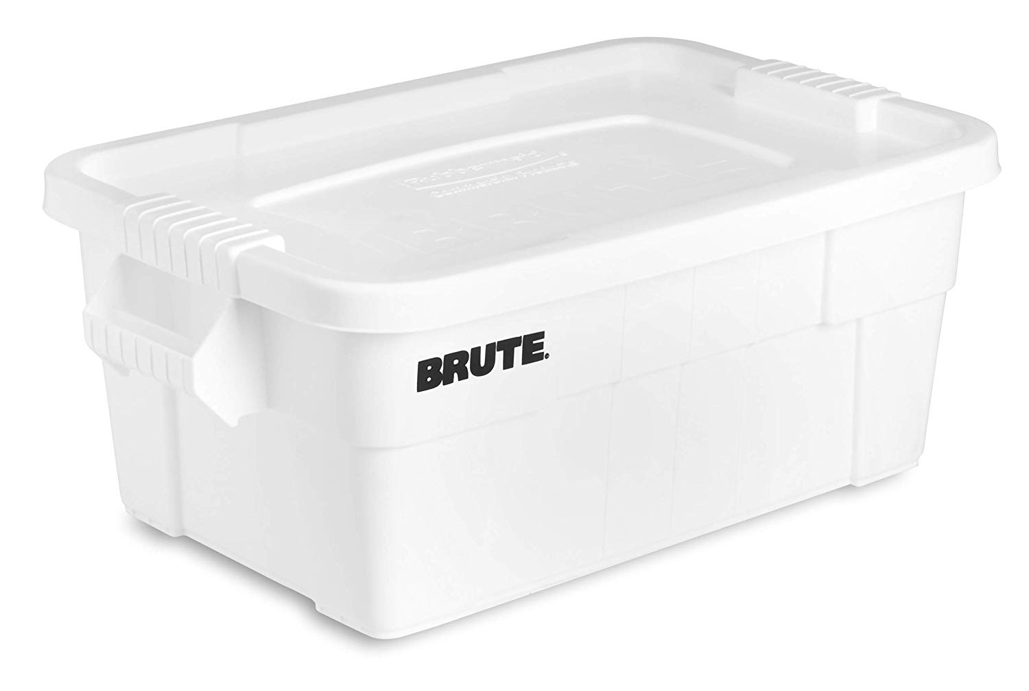 FG9S3000WHT Pack of 6 White 14-Gallon Rubbermaid Commercial Products Brute Tote Storage Container with Lid