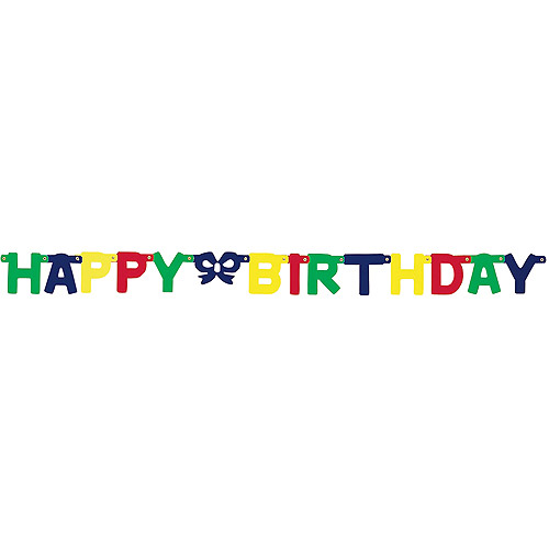 "Banner 4.25""X4.75 Feet-Happy Birthday/Multi Colors"