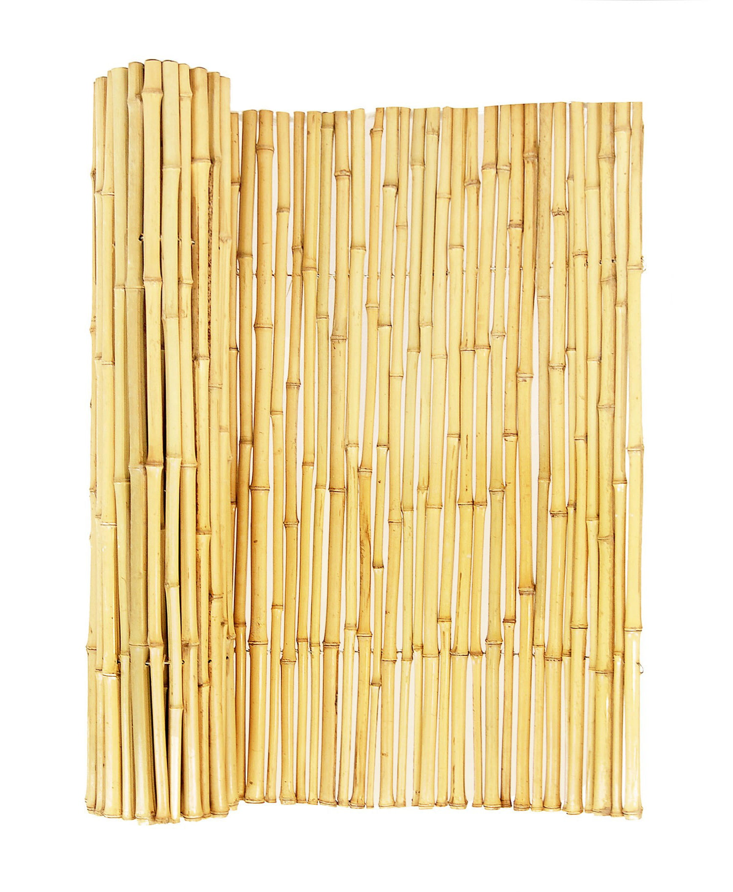 Backyard X Scapes Inc Natural Rolled Bamboo Fence 3 4 D H 8 L