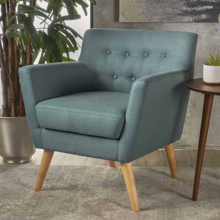 Strange Noble House Nina Mid Century Dark Teal Fabric Club Accent Chair Andrewgaddart Wooden Chair Designs For Living Room Andrewgaddartcom