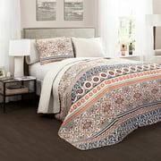Premium Nesco Reversible 3-Piece Full/Queen Quilt & Sham Bedding Set by Lush Decor