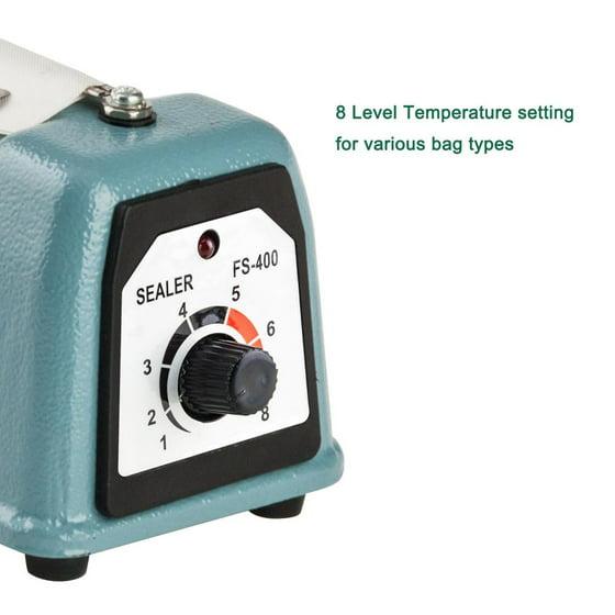 Ktaxon 16 Hand Impulse Heat Sealing Sealer Machine With Led Seal Indicator Lights Elements For Poly Tubing Plastic Bag Food Closer