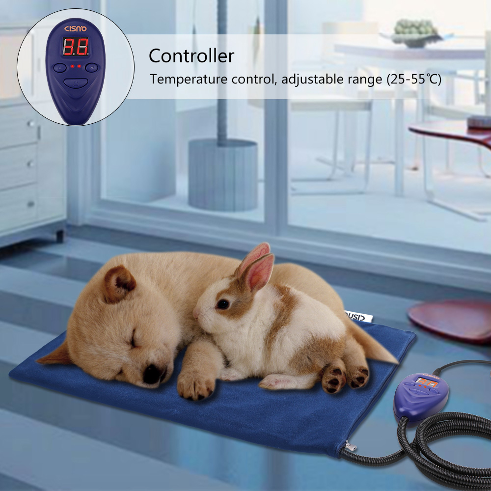 Cisno 16''x12'' Warmer Heated Pet Bed Pad Mats Dog Cat Puppy Electric Heating Blanket