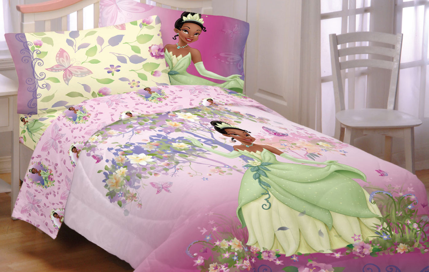 Disney Princess And The Frog Southern Butterflies Polyester Bedding Sheet Set Walmart Com