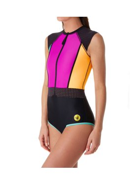 b7132d815d2f8 Product Image Women's Body Glove 447762 Bounce Stand Up Cap Sleeve One  Piece Swimsuit