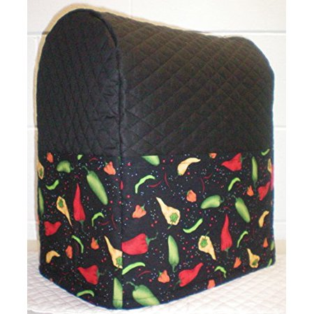 Quilted Hot Peppers Cover For Kitchenaid 7 Quart Lift Bowl