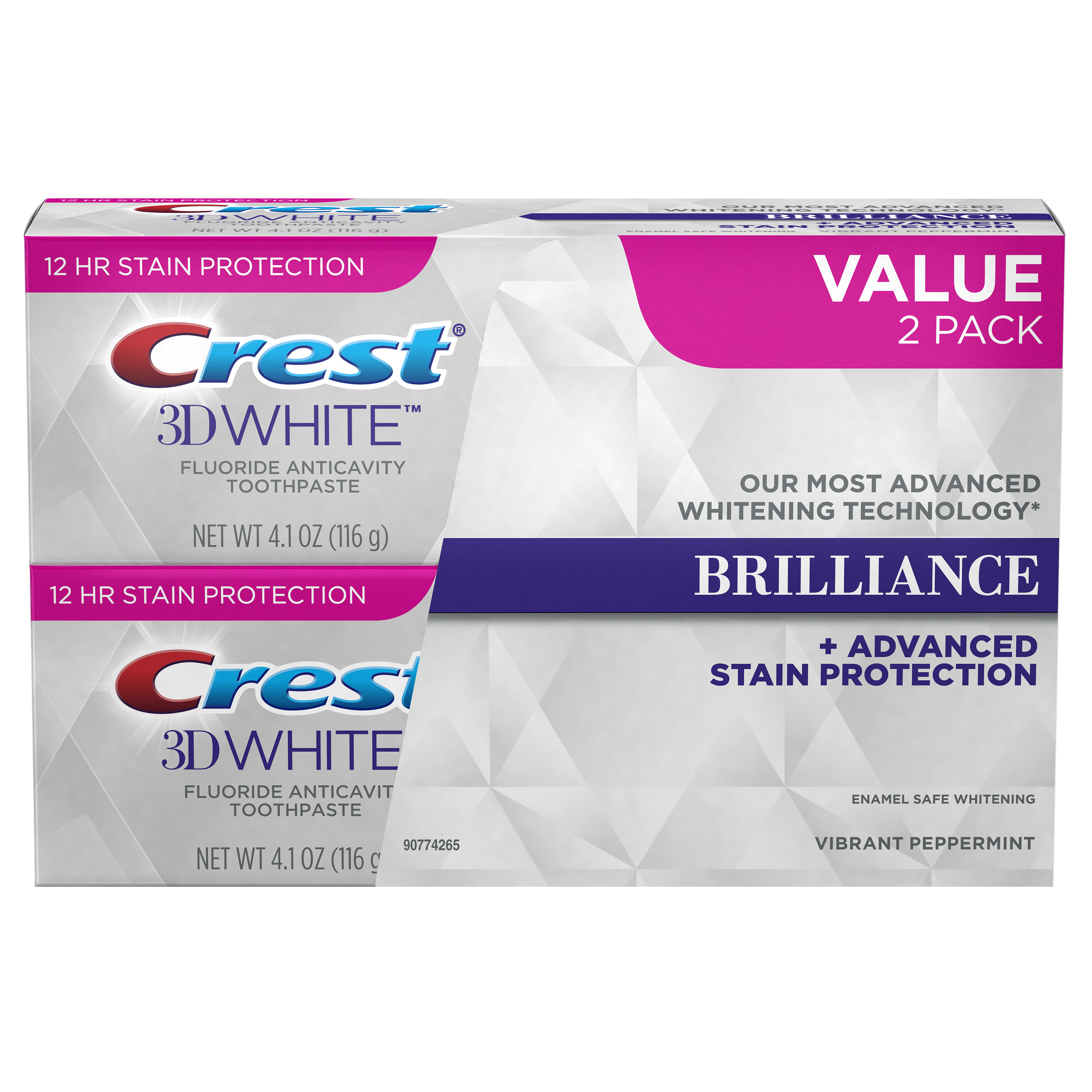 Crest 3D White Brilliance Vibrant Peppermint Toothpaste (Choose Count)
