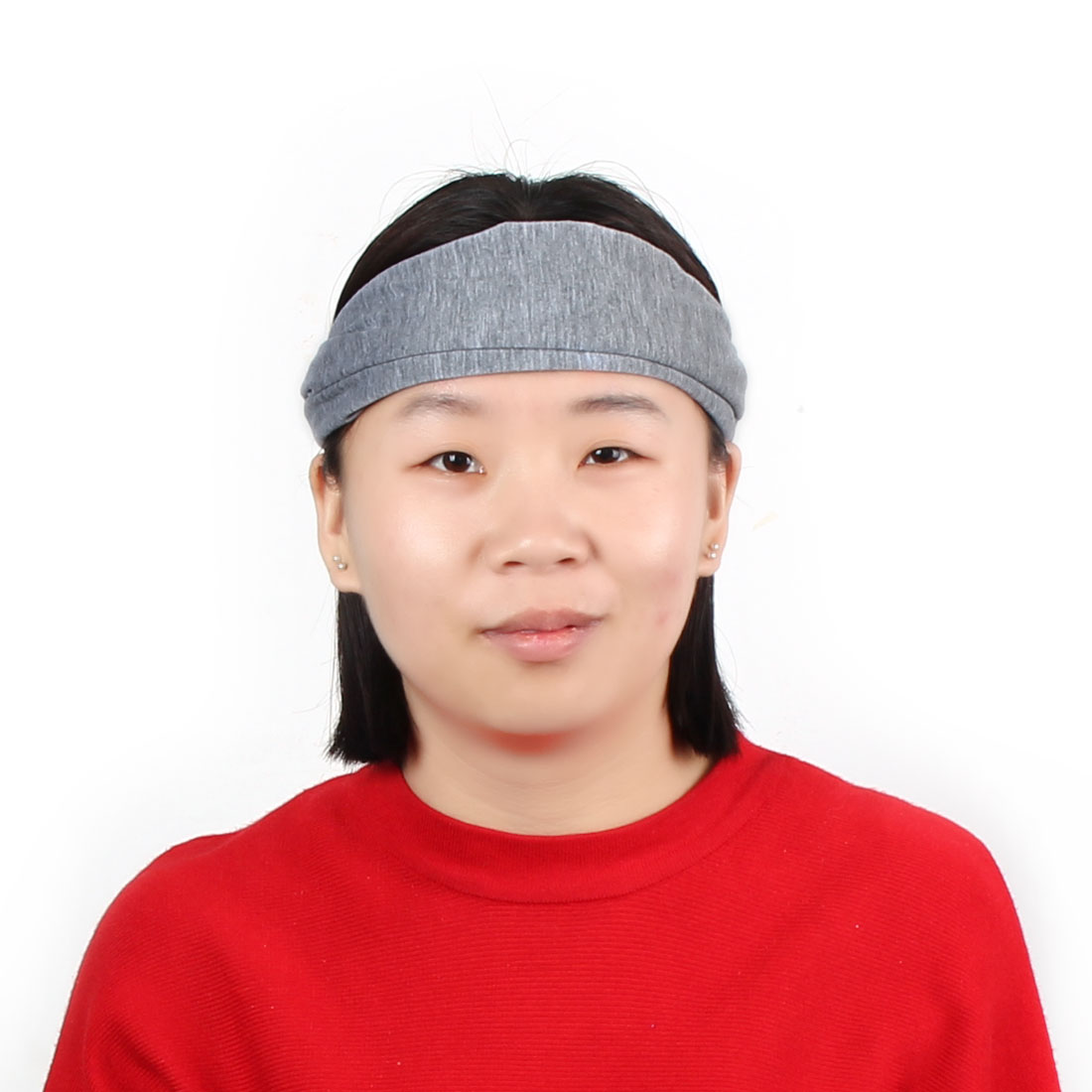 Outdoor Running Sports Cotton Blends Elastic Headwraps Headband Hair Band Gray - image 5 de 5