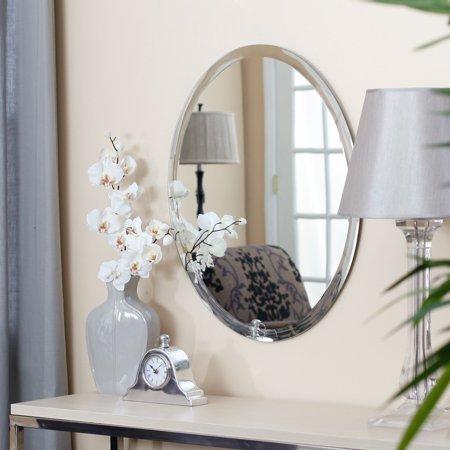 Uttermost Frameless Oval Beveled Vanity Mirror