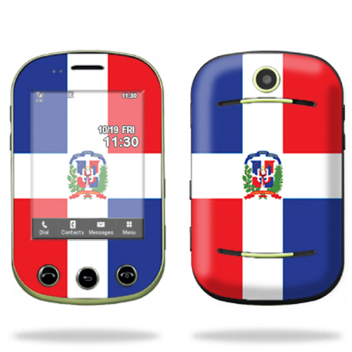 Mightyskins Protective Skin Decal Cover for Pantech Pursuit II 2 Cell Phone wrap sticker skins Dominican flag