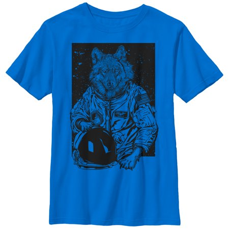 Boys Wolf (Lost Gods Wolf Astronaut Boys Graphic T Shirt )