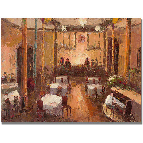 "Trademark Fine Art ""Cafe Italia"" Canvas Art"