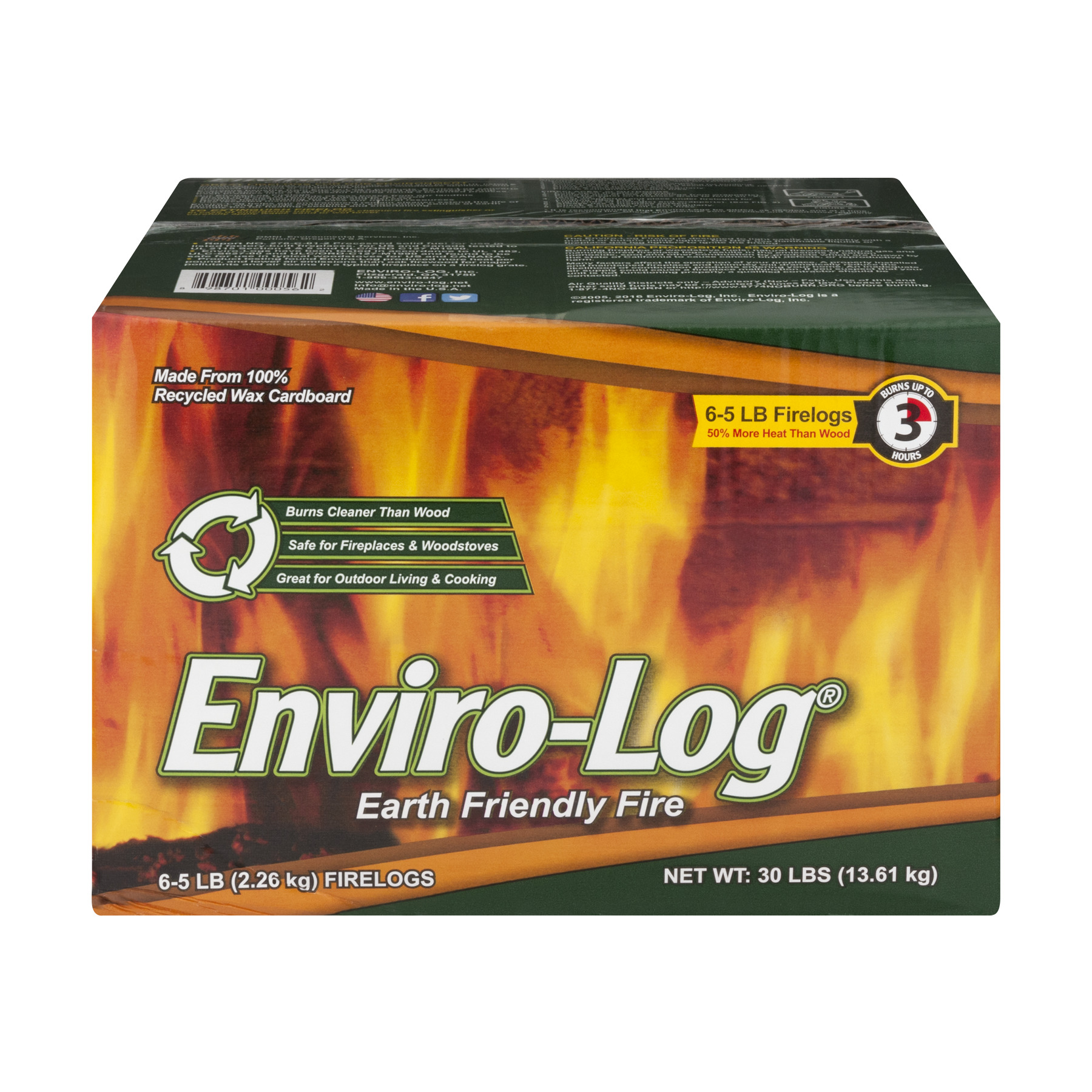 Enviro-Log Earth Friendly Firelogs - 6 CT5.0 LB