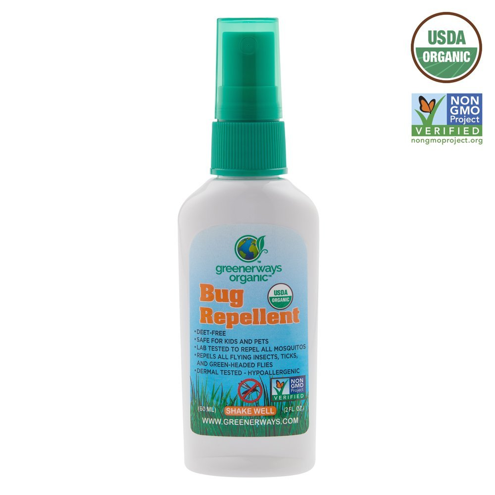 Greenerways Organic Mosquito Insect Repellent Travel Size Premium Beauty Barn Kid Citronella Body Oil Usda Deet Free Natural Repellant Bug Spray Clothing Safe Baby