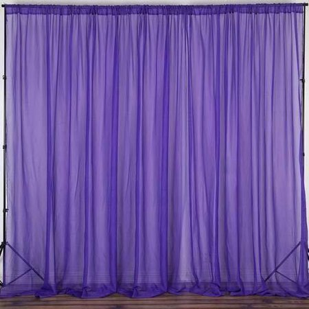 Sheer Chiffongeorgette Stage Backdrop Drape Curtain For Wedding