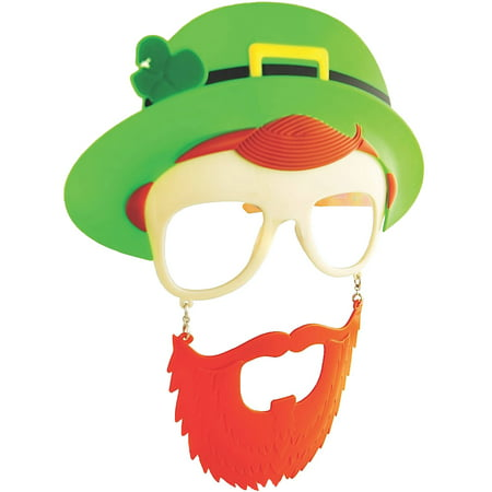 Leprechaun Clear Sunstache Adult Halloween Accessory - St Patrick Day Costumes