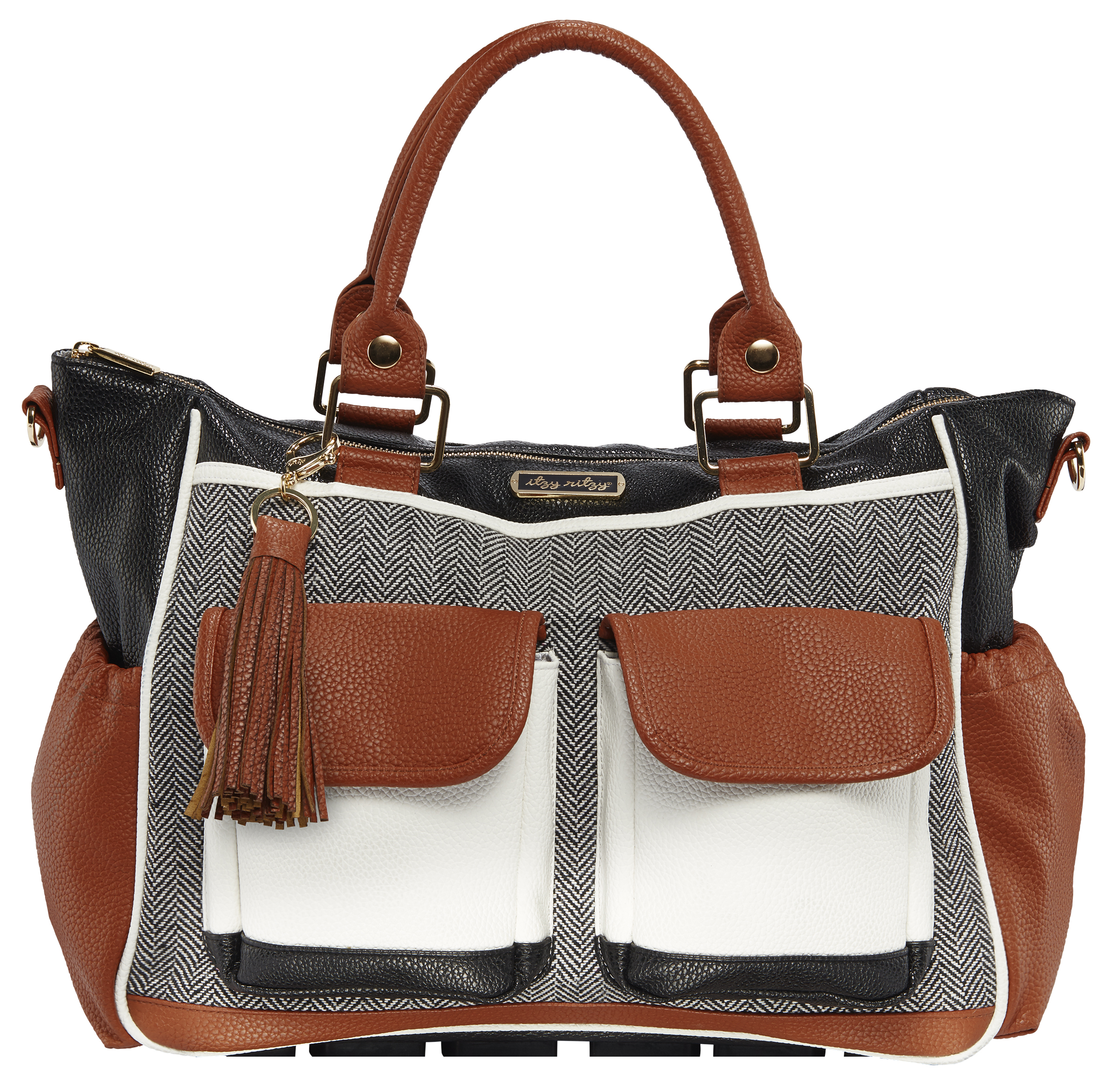 Itzy Ritzy Triple Threat Convertible Diaper Bag in Coffee and Cream by Itzy Ritzy