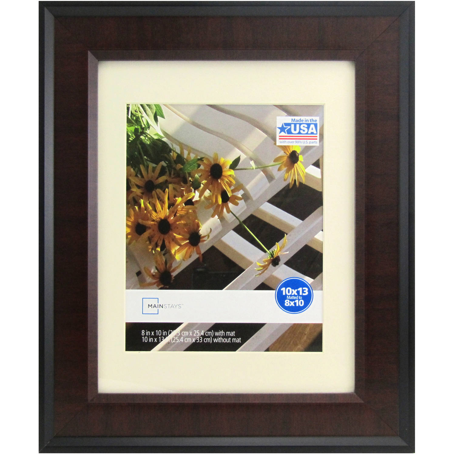 mainstays mai 10x13 frame blackcherry walmartcom