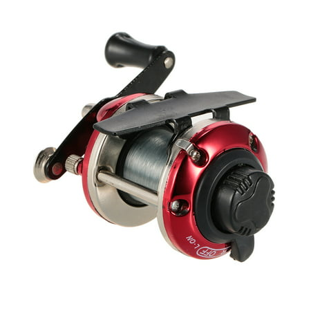Right Hand Ice Fishing Reel Drum Reel Lightweight Small Compact Design Metal Construction for Saltwater Freshwater ()