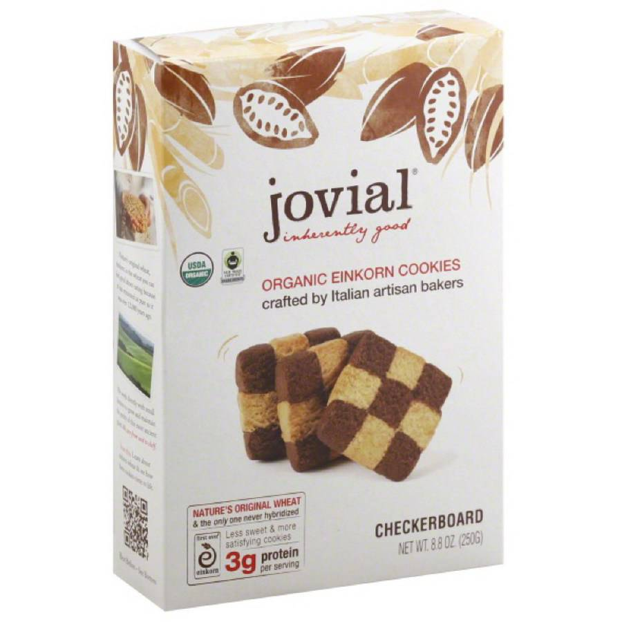 Jovial Einkorn Checkerboard Cookies, 8.8 oz, (Pack of 6)