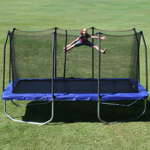 Skywalker Trampolines 15' Rectangle Trampoline and Enclosure, Blue (Box 1 of 3)
