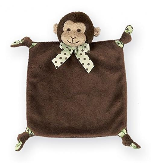 Bearington Baby Plush Monkey Baby Blankie - Bearington Wee Giggles