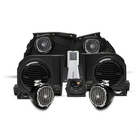 Rockford Fosgate X3-Stage5 1000 watt stereo, front speaker, subwoofer, and rear speaker kit for select Maverick X3 models ()