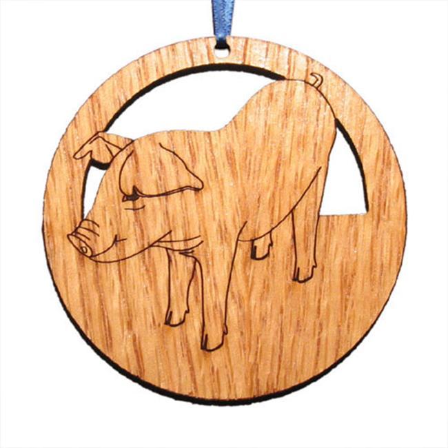 CAMIC designs FAR002N Laser-Etched Pig Ornaments - Set of 6