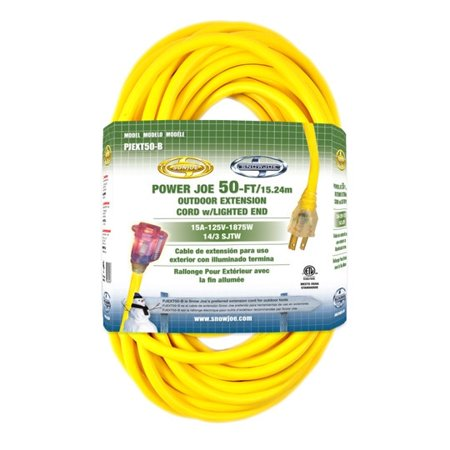 Snow Joe PJEXT50-B Power Joe 14 Gauge 50 ft. Extension Cord