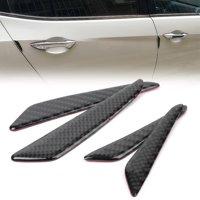 GZYF 4PCS Carbon Fiber Car Door Protective Strip Anti-collision For Mercedes Benz
